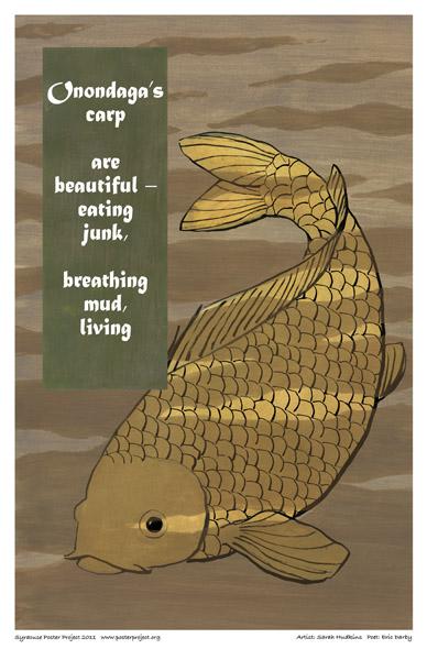 Art Poster, Syracuse, Onondaga Lake, Carp