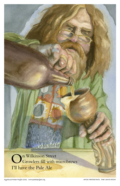 Art Poster, Syracuse, Beer Drinker, Ale, Middle Ages Brewery