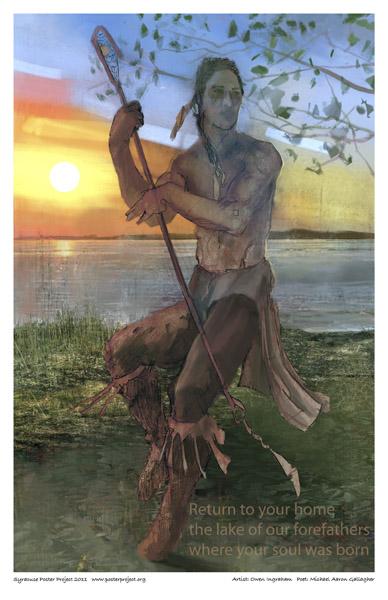 Art Poster, Syracuse, Haudenosaunee people, Lacrosse, Onondaga Lake