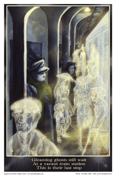 Art Poster, Syracuse, Ghosts, Trains