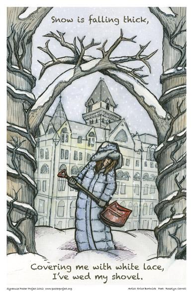 Art Poster, Syracuse, Snow
