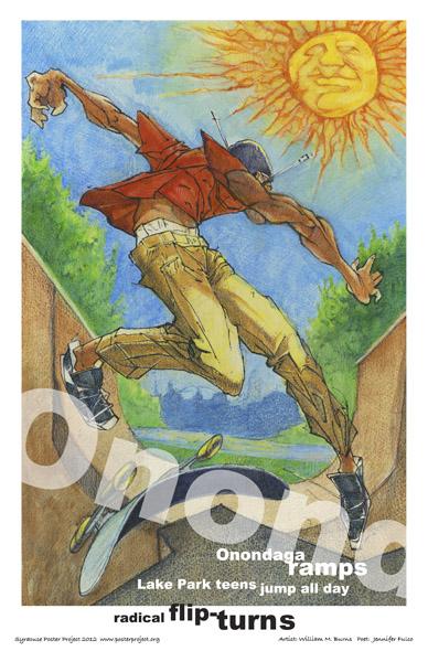 Art Poster, Syracuse, Onondaga Lake Park, Skateboarding