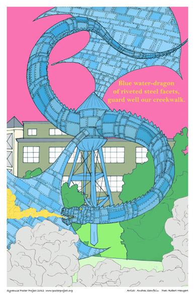 Art Poster, Syracuse, Dragon, Creekwalk, Armory Square