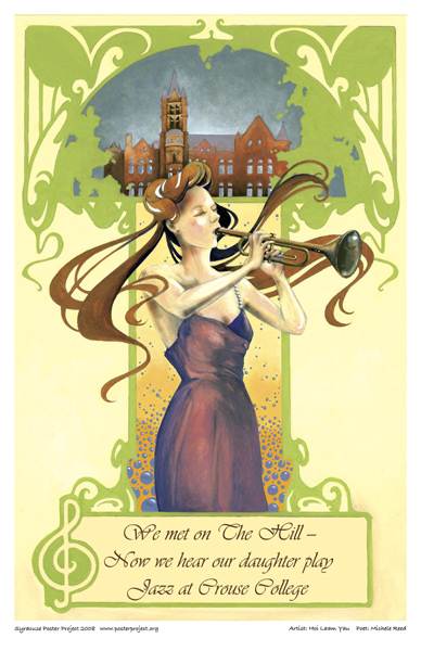 Art Poster, Syracuse, Crouse College, SU, Castle