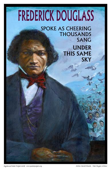 Art Poster, Syracuse, Frederick Douglass, Doves