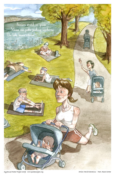 Art Poster, Syracuse, Exercising, Onondaga Lake Park