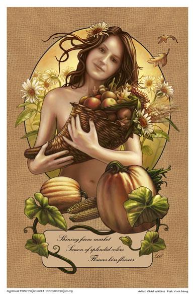 Poster, Syracuse Art, Farm Market, Flowers