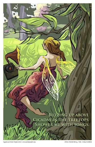 Poster, Syracuse Art, Cicadas