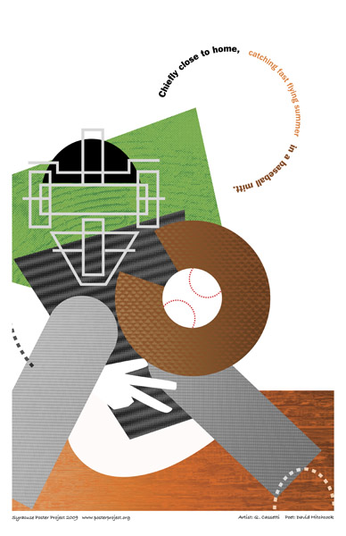 Art Poster, Syracuse, Baseball Catcher, Syracuse Chiefs