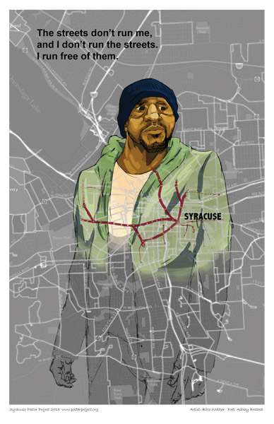 Poster, Syracuse Art, Streets, Man
