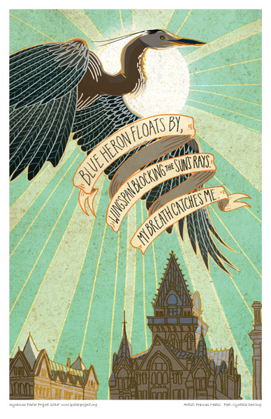 Poster, Syracuse Art, Heron