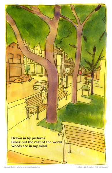 Poster, Syracuse Art, Autumn, Park