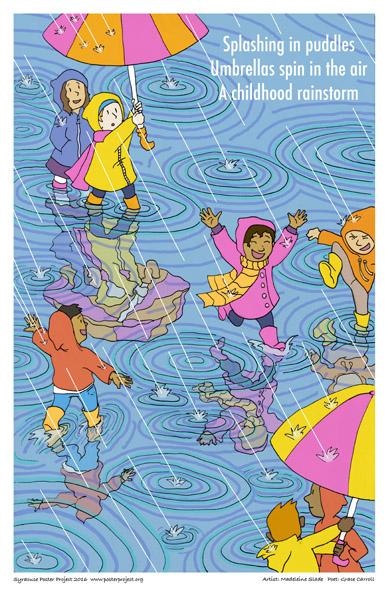 Poster, Syracuse Art, Umbrella, Rain, Puddle