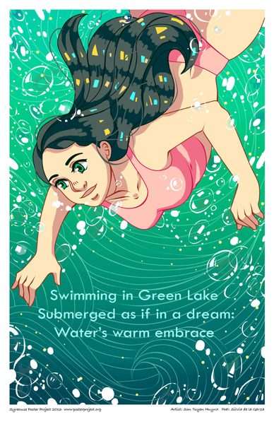Poster, Syracuse Art, Green Lake, Swim