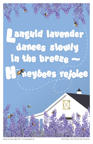 Poster, Syracuse Art, Lavender And Bees
