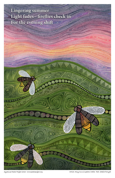 Poster, Syracuse Art, Field With Fireflies