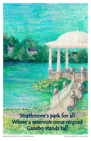 Poster, Syracuse Art, Gazebo
