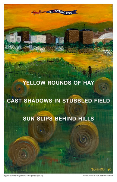 Poster, Syracuse Art, Hay On A Hill