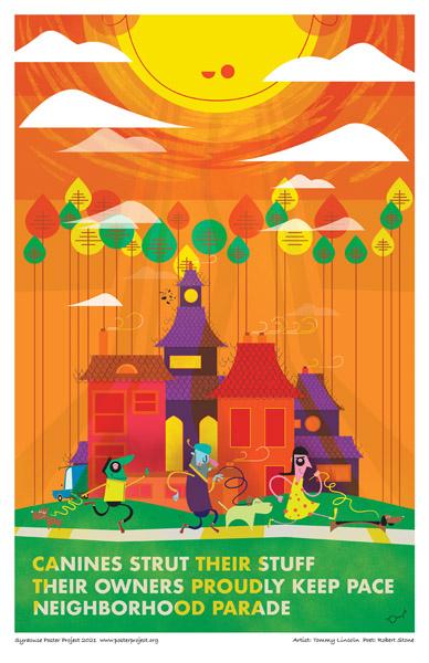 Poster, Syracuse Art, Neighborhood Dog Walkers