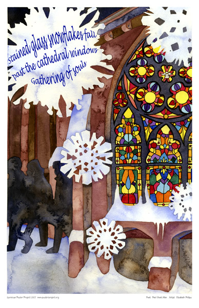 Stained Glass, Snowflakes, Art Poster, Syracuse
