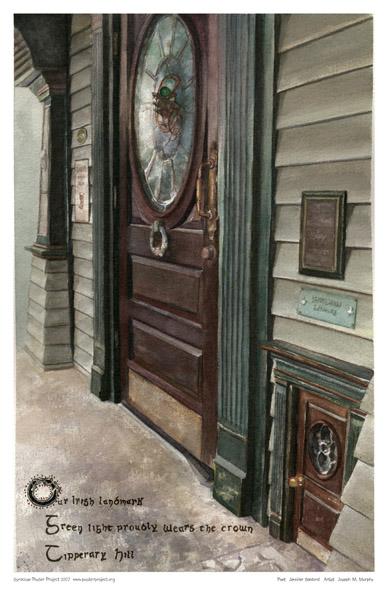 Leprechaun Door, Coleman's Pub, Art Poster, Syracuse