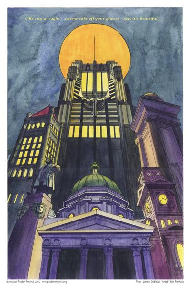 Art Poster, Syracuse, Landmarks, Syracuse University, NiMo, Columbus Circle