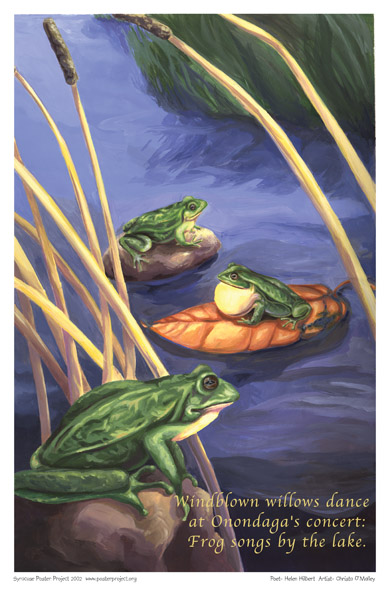 Art Poster, Syracuse, Frogs, Onondaga Lake