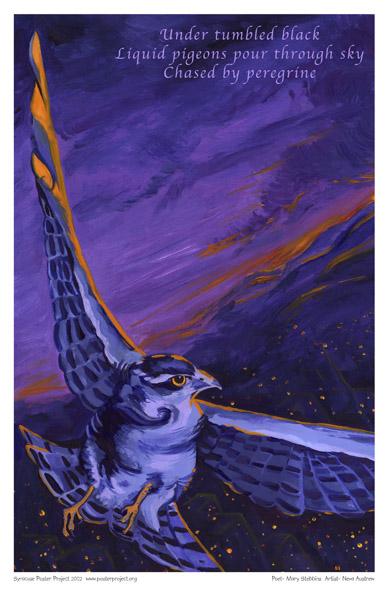 Art Poster, Syracuse, Peregrine Falcon
